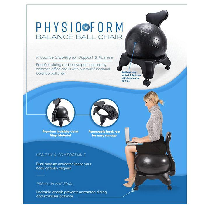 Balance Ball Chair with Back Support for Home and Office-Daily Steals