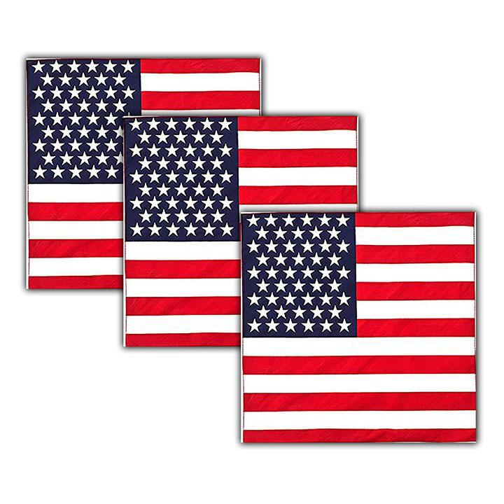 American Flag Bandana - 100% Cotton - 3 Pack-Daily Steals