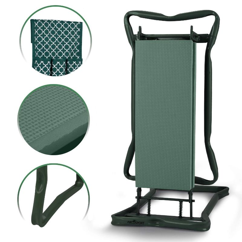 Garden Kneeler And Seat with Free Pair of Digging Gloves and Designer Pouch-Daily Steals