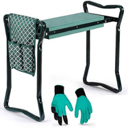 Garden Kneeler And Seat with Free Pair of Digging Gloves and Designer Pouch-Green-Daily Steals