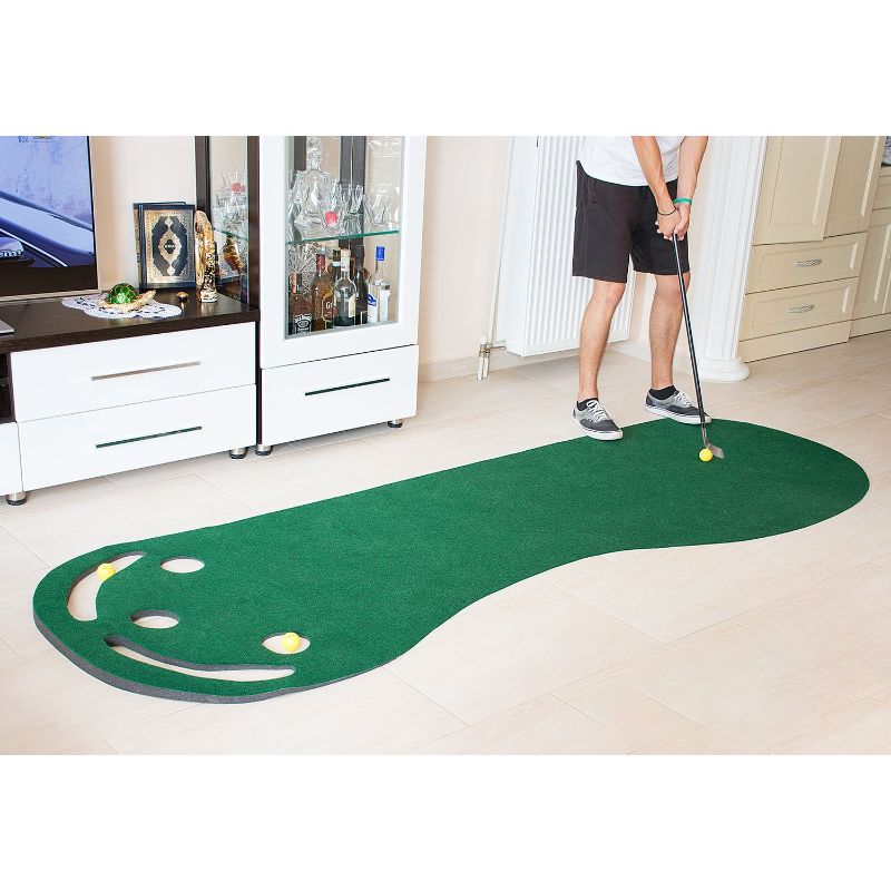 Golf Putting Green Grassroots Mat with 3 FREE Golf Balls-Daily Steals