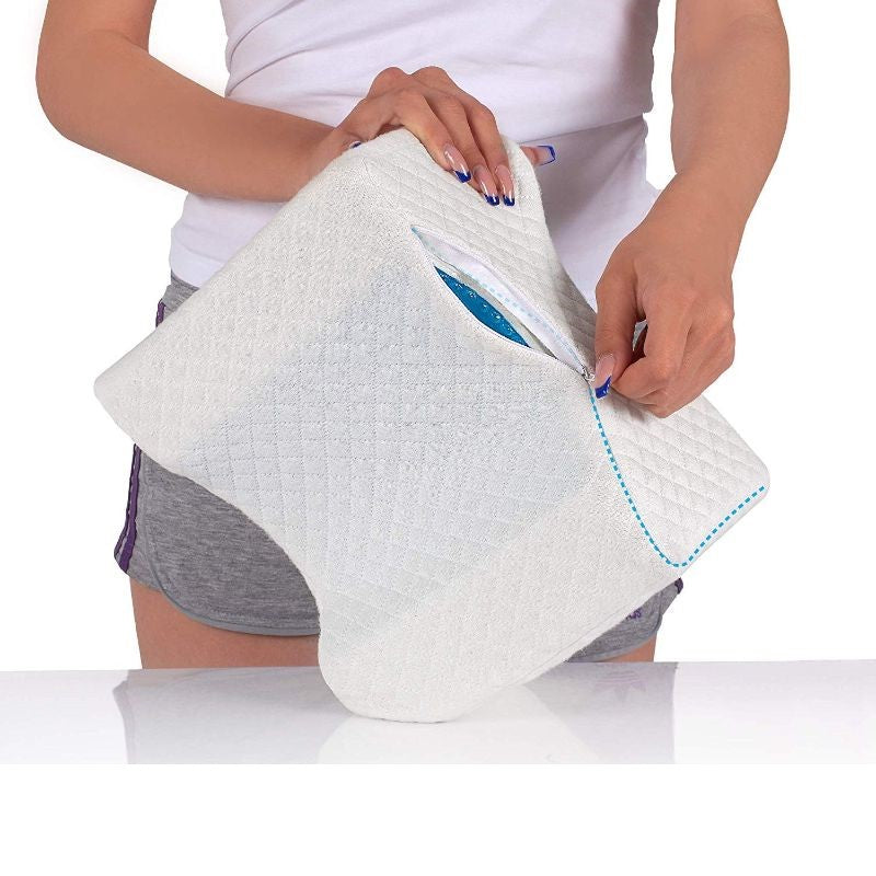 Memory Foam Knee Pillow with Cooling Gel-Daily Steals