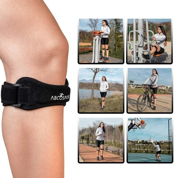 Abco Patella Knee Strap for Knee Pain Relief - 2 Pack-