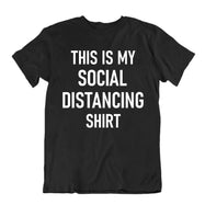 """This Is My Social Distancing Shirt"" T-Shirt-Black-L-Daily Steals"