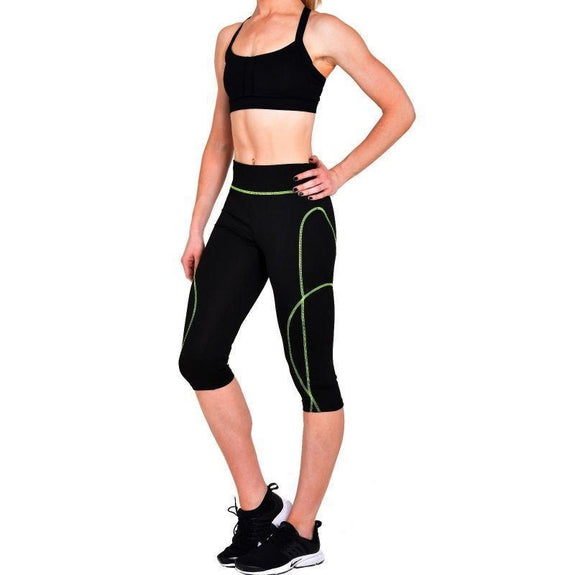 Active Workout Capri 3/4 Leggings Assorted - 3 Pack-S-