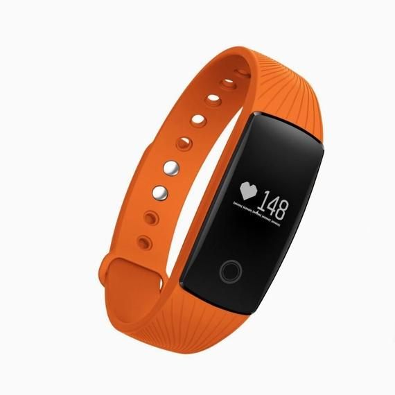 Bluetooth Smart Band Fitness Tracker med pulsmätare-Orange-Daily Steals