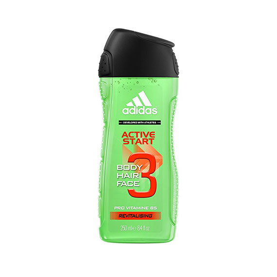 Adidas Men's Personal Care 3-In-1 Body, Face and Hair Wash (8.4OZ) - 3 Pack-Daily Steals