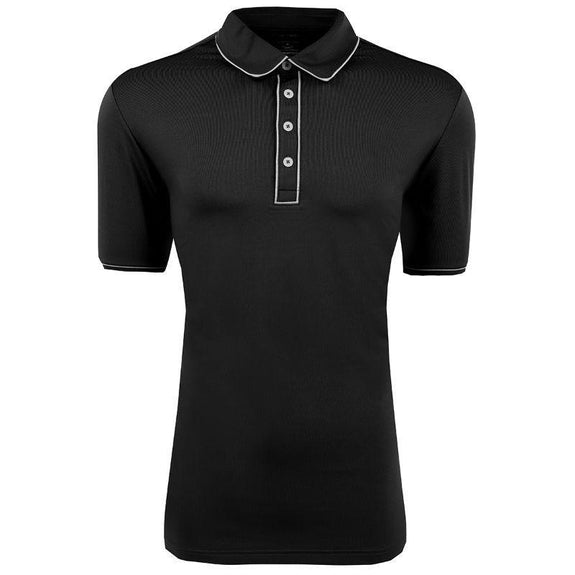 adidas Men's Puremotion Piped Polo-Black-XL-Daily Steals