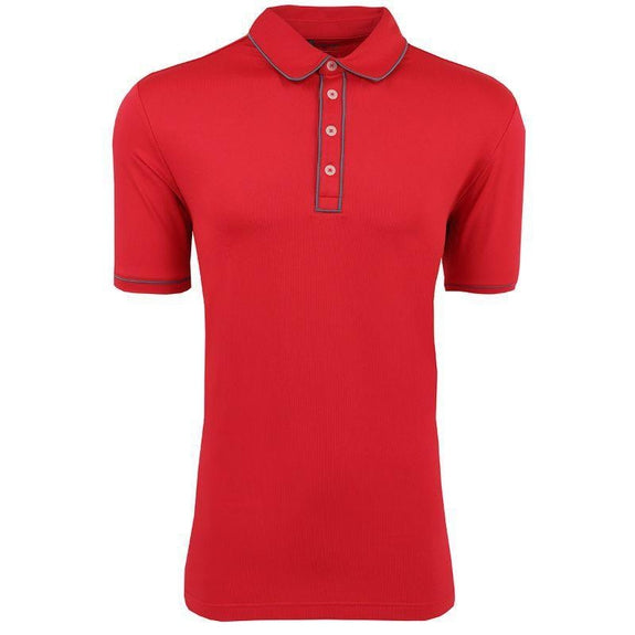 adidas Men's Puremotion Piped Polo-Bold Red-M-Daily Steals