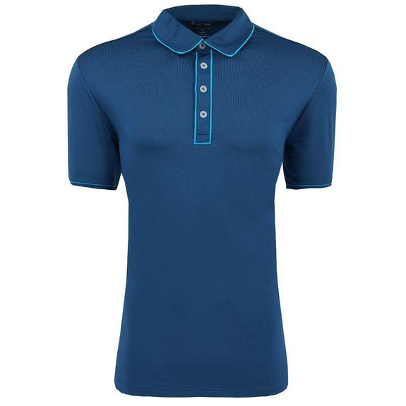 adidas Men's Puremotion Piped Polo-Midnight-L-Daily Steals