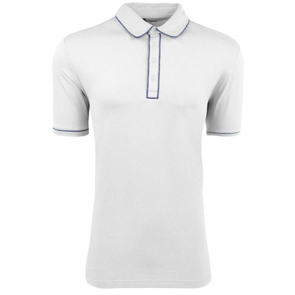 adidas Men's Puremotion Piped Polo-White-L-Daily Steals