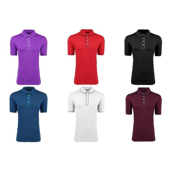 adidas Men's Puremotion Piped Polo-Daily Steals