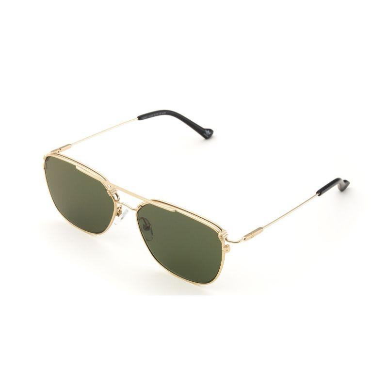 Daily Steals-Adidas New Metal AOM011 Gold Square Double Bridge Sunglasses-Sunglasses-