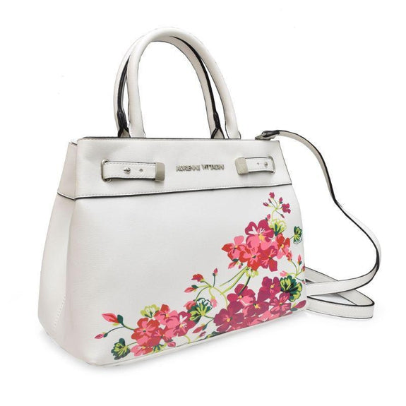 Adrienne Vittadini Handbags - Satchel, Crossbody Or Tote-Whit Floral Satchel-