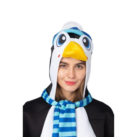 Adult Penguin Animal Onesie Pajama Costume-