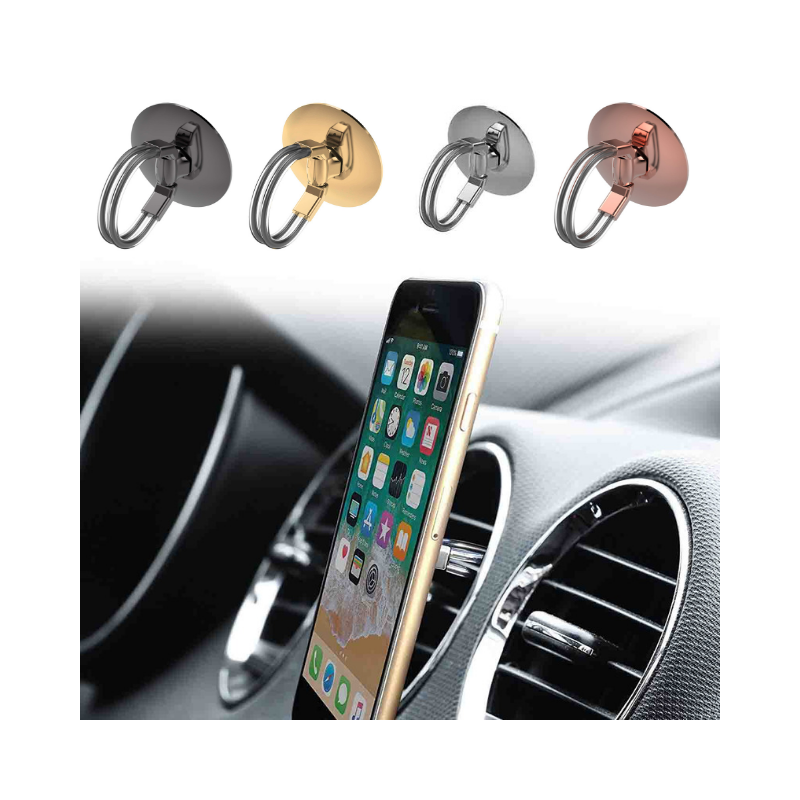 Daily Steals-Aduro 3in1 Universal Phone Ring Stand Car Holder - 4 Pack-Cell and Tablet Accessories-