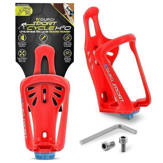 Daily Steals-Aduro Sport Cycle H2O Universal Bicycle Bottle Holder - 5 Color Options-Fitness and Wellness-Red-Two Pack-