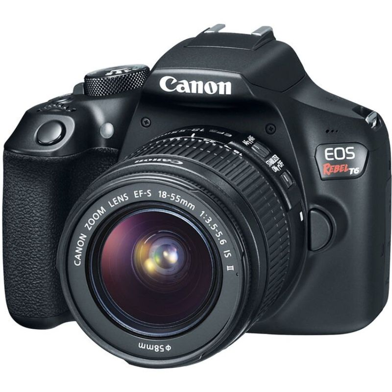 Canon EOS Rebel T6 DSLR Camera w/ 18-55mm Lens, Memory Card, Filter Kit etc-Daily Steals