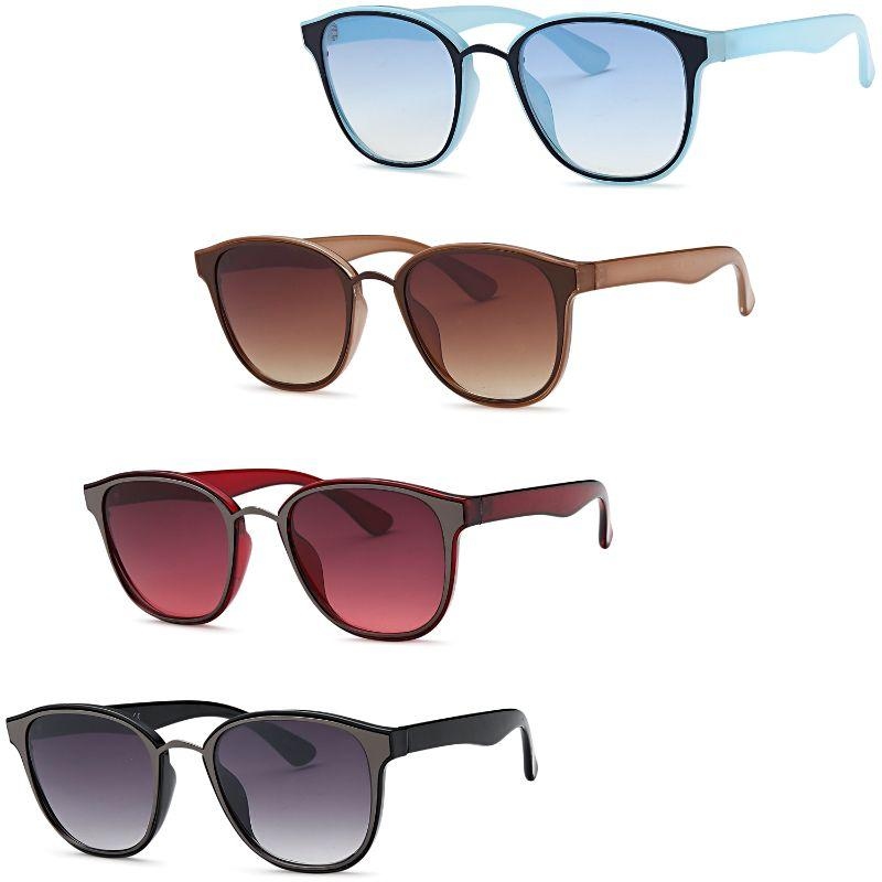Afonie Inc Colorful Sunglasses - 4 Pack-Daily Steals