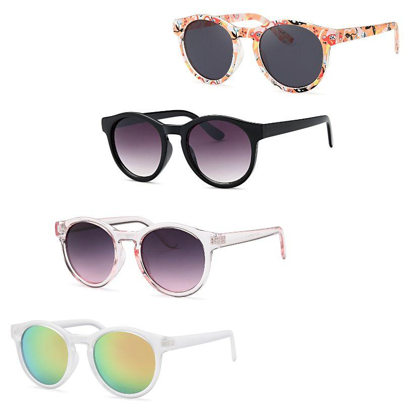 Afonie Inc Womens Colorful Summer Classic Sunglasses - 4 Pack-Daily Steals