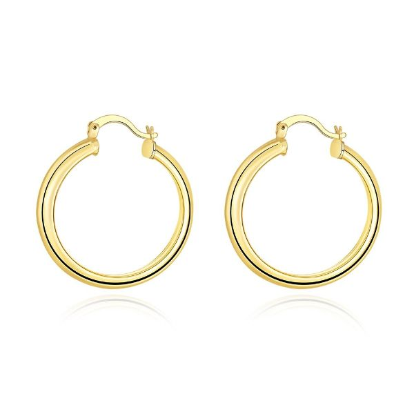34mm Hoop Earrings-Yellow Gold-Daily Steals