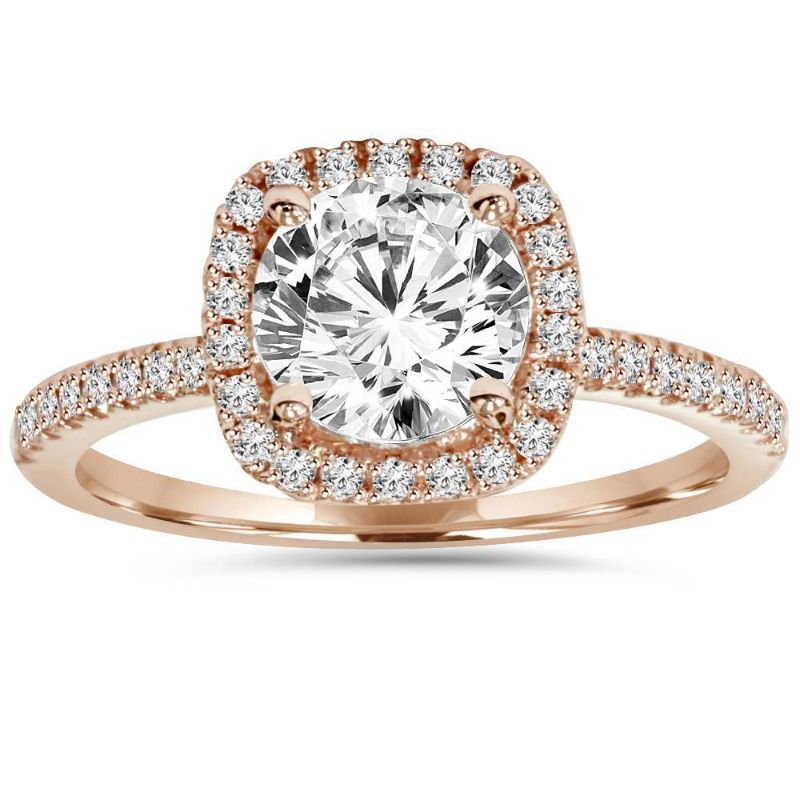 2.00 Ct Classic Pave Halo Ring Made with Swarovski Crystals-10-B-Daily Steals