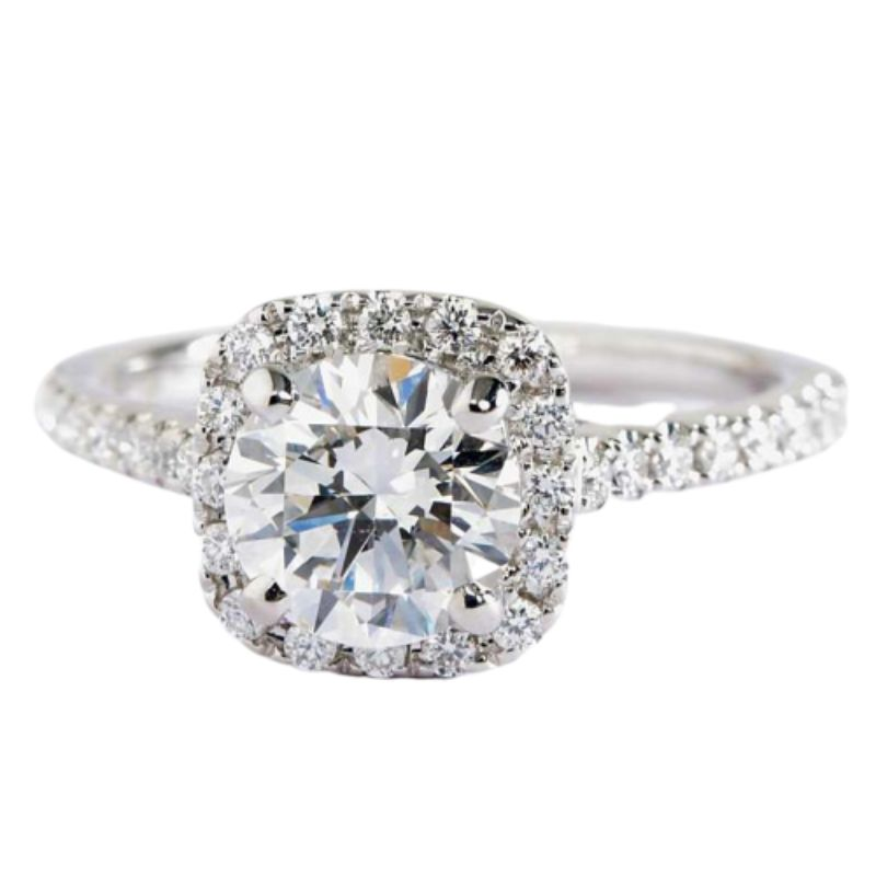 2.00 Ct Classic Pave Halo Ring Made with Swarovski Crystals-10-C-Daily Steals