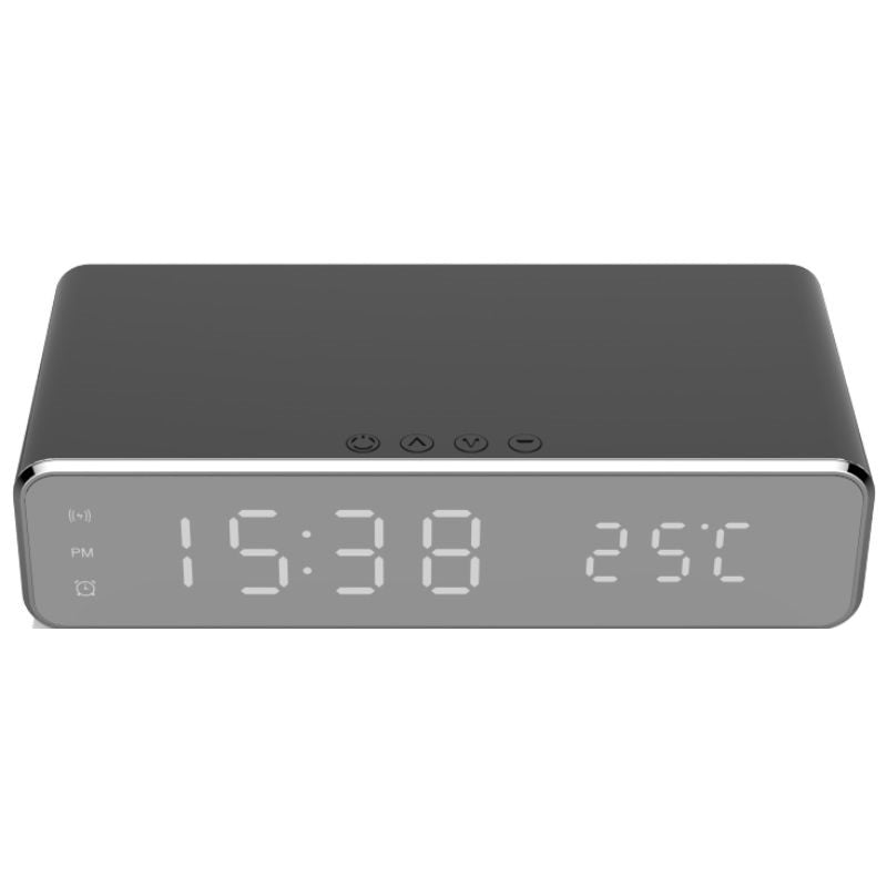 Wireless Charging Digital Alarm Clock-Black-Daily Steals