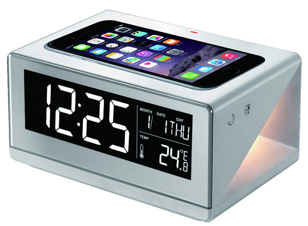 Boytone Fast Wireless Charging Digital Alarm Clock-White-Daily Steals