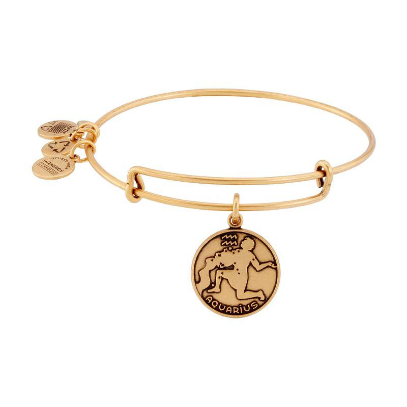 Alex And Ani Aquarius II Gold Expandable Bangle Bracelet A13EB01AQRG-