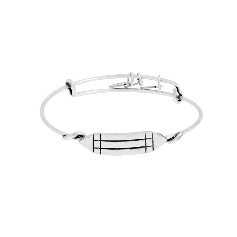 Alex And Ani Atlantean Wrap Rafaelian Silver Finish Bangle Bracelet A11EBW116RS-