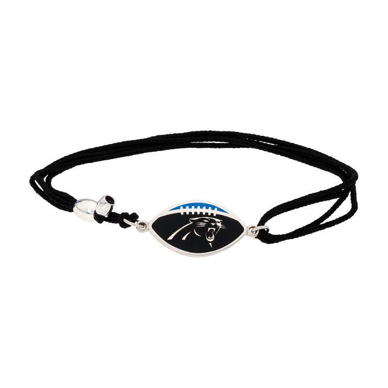 Alex And Ani Carolina Panthers Pull Cord Bracelet AS17KC32S-