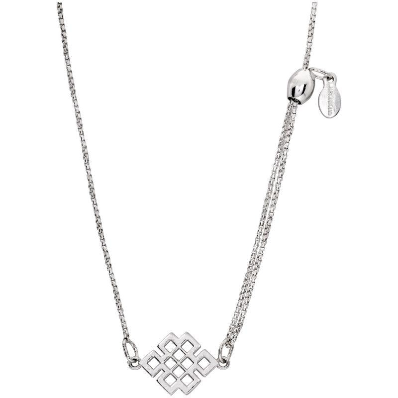 Alex And Ani Endless Knot Pull Chain Silver One Size Necklace PC14SPN02S-