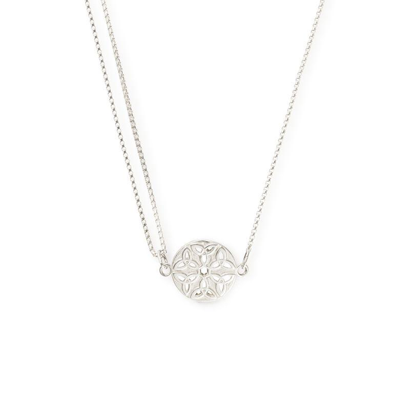 Alex and Ani Endless Knot Pull II Silver One Size Necklace PC16N07S-