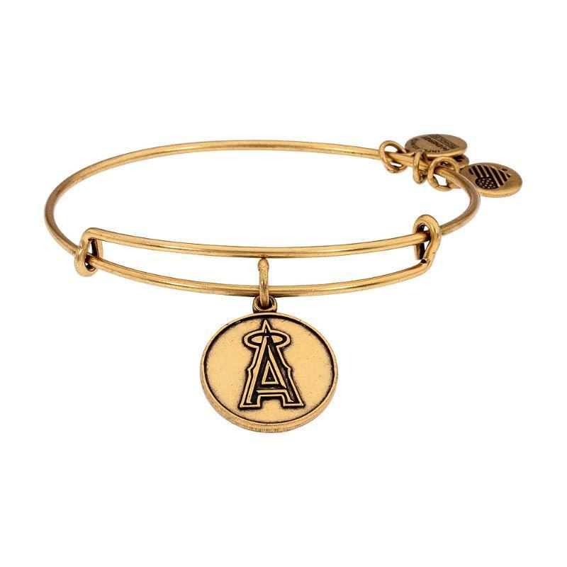 Alex And Ani Los Angeles Angels Cap Logo Charm Gold Finish Bangle Bracelet AS12LAA01RG-