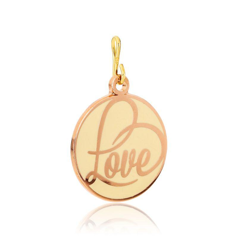 Alex And Ani Love Epoxy Shiny Rose Gold Charm CS16C01-