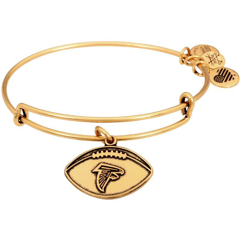 Alex And Ani NFL Atlanta Falcons Gold One Size Bracelet AS15AF02RG-