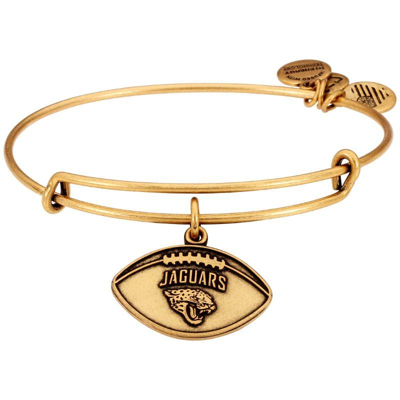 Alex And Ani NFL Jacksonville Jaguars Gold One Size Bracelet AS15JJ02RG-