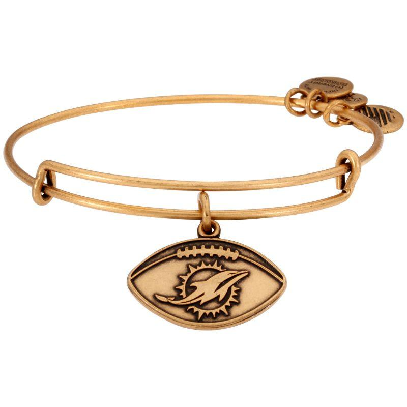 Alex And Ani NFL Miami Dolphins Gold One Size Bracelet AS14MD02RG-