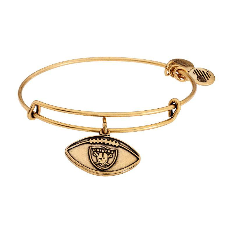 Alex And Ani Oakland Raiders Football Charm Bangle Rafaelian Gold AS15OR02RG-