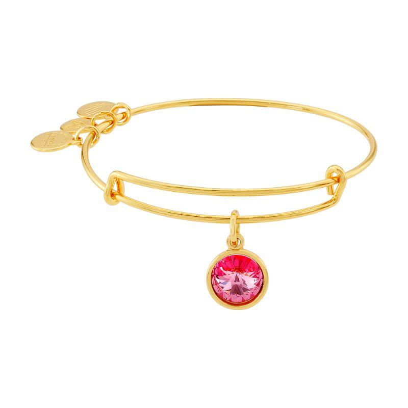 Alex And Ani October Birthstone Gold Expandable Bangle Bracelet A09EB249G-