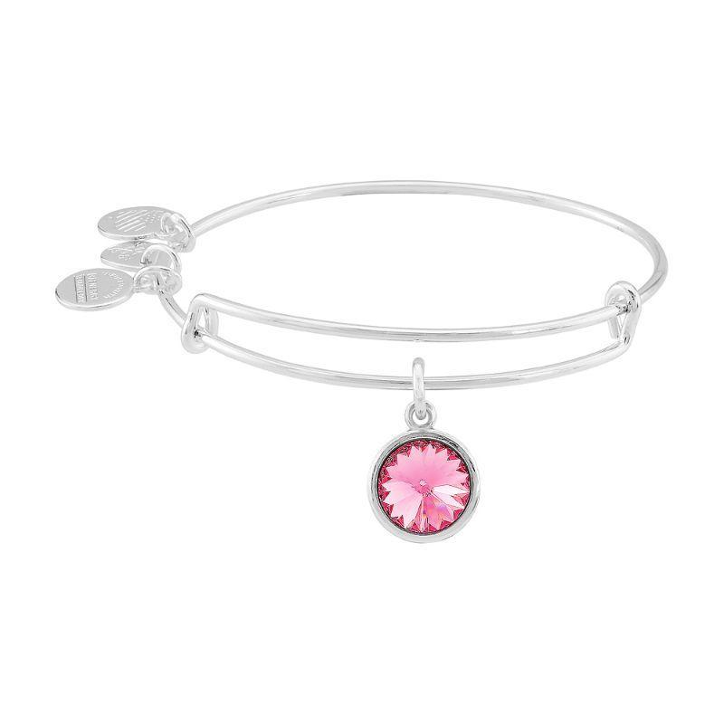 Alex And Ani October Birthstone Silver Expandable Bangle Bracelet A09EB249S-