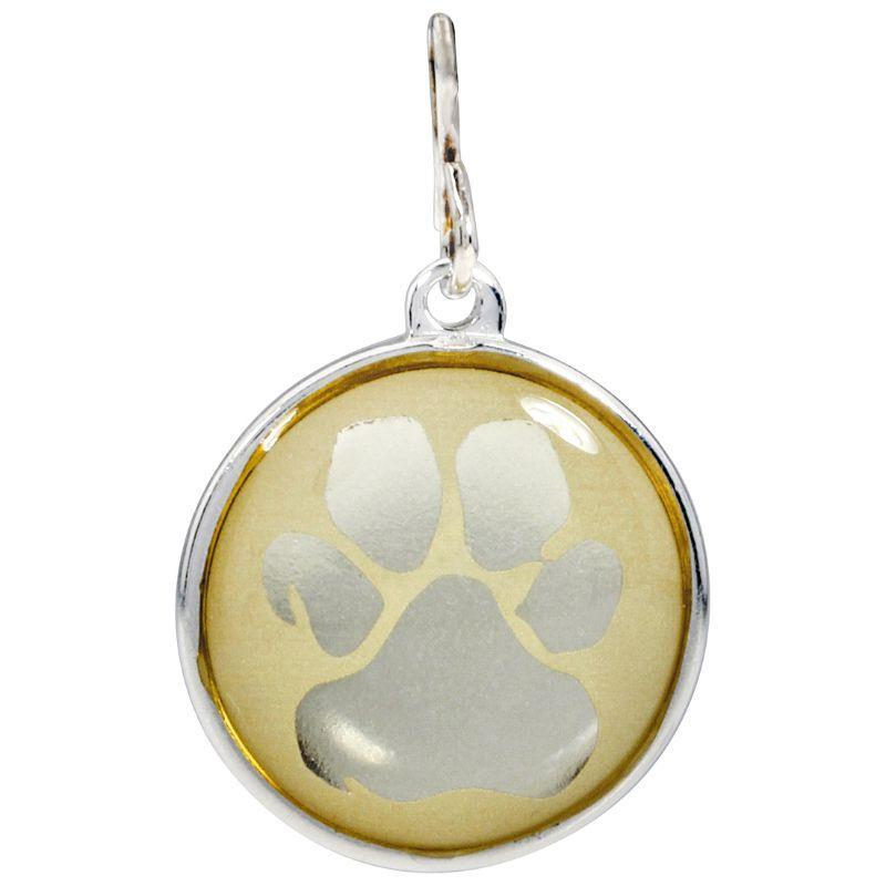 Alex And Ani Paw Print Chain Station Two Tone One Size Charm CS16C18S-