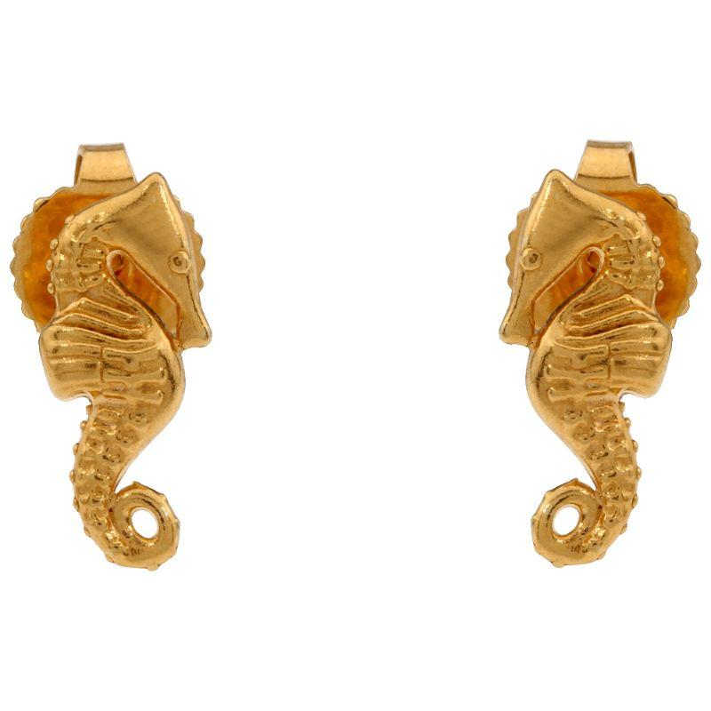 Alex And Ani Seahorse Post Stud Earrings 14Kt Gold Plated PC16E03G-