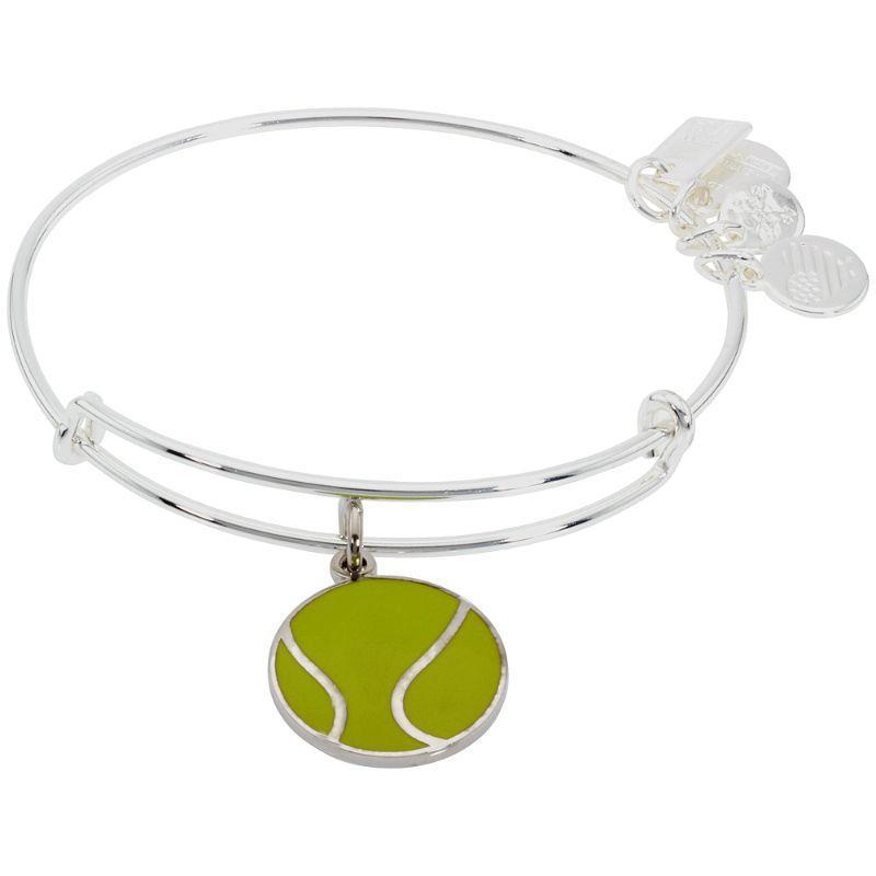 Alex And Ani Team USA Tennis Ball Charm Shiny Silver Bangle Bracelet AS16US06SS-