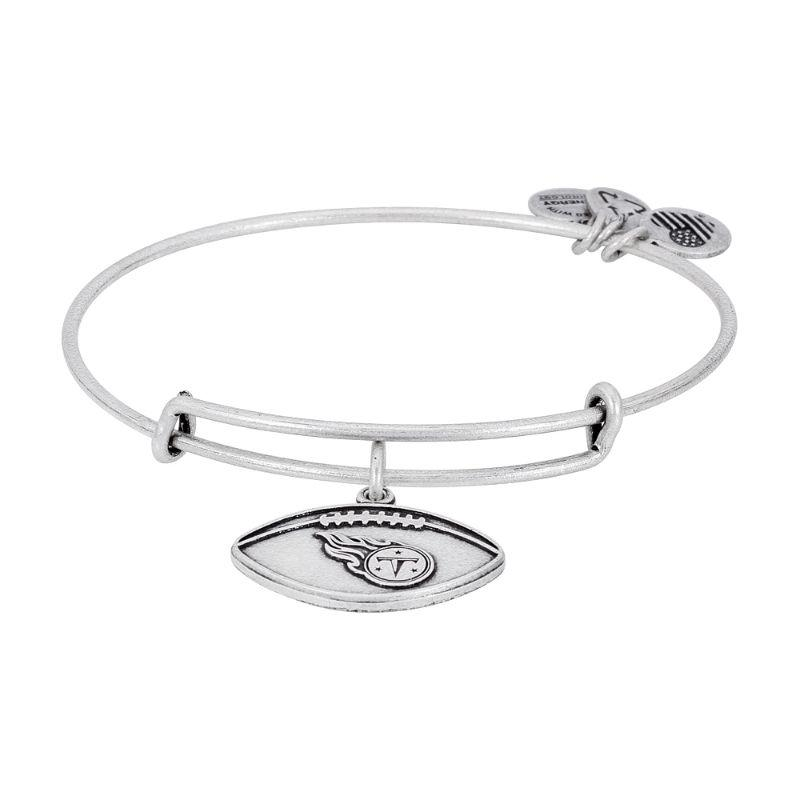 Alex And Ani Tennessee Titans Football Charm Silver Bangle Bracelet AS15TT02RS-