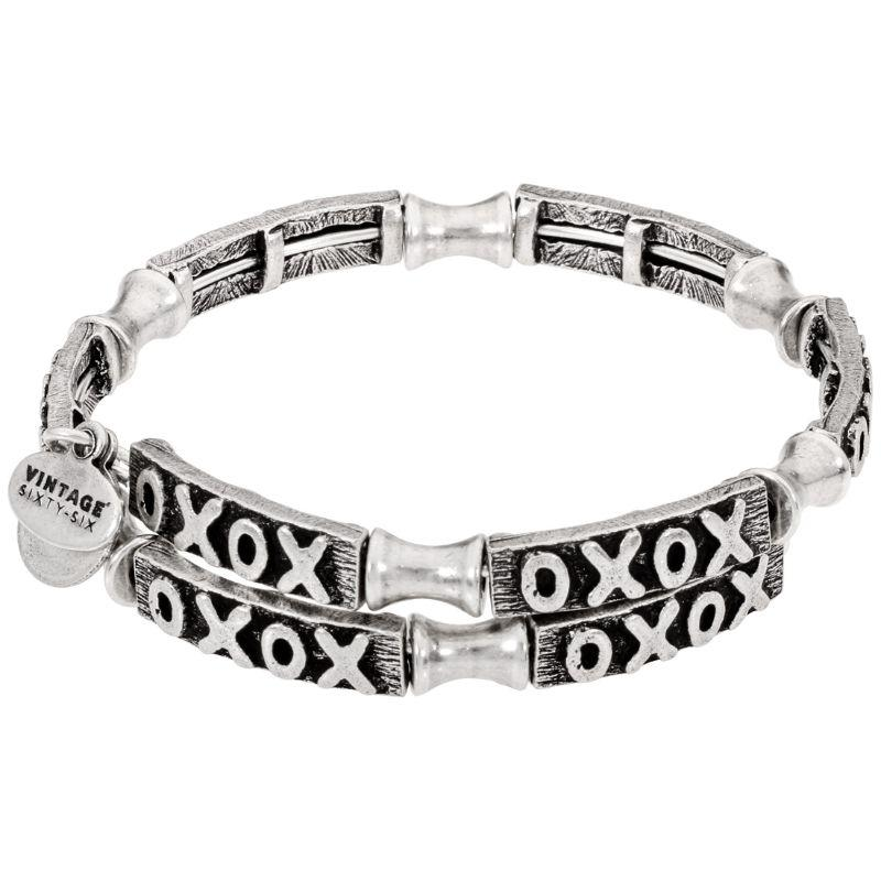 Alex And Ani XO Wrap Silver One Size Bracelet V18W02RS-