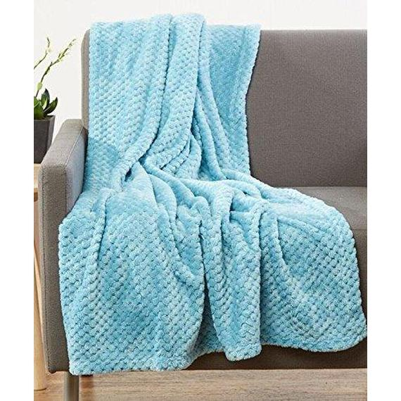 Daily Steals-All-Season Lujosa manta de lana de palomitas de maíz Ultra-Soft 50x60-Throw Throw Blanket - 2 Pack-Home and Office Essentials-Teal-