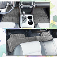 All Weather Rubber Semi Pattern Car Interior Floor Mats - 4 Piece-Daily Steals