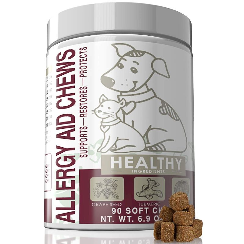 Allergy Aid Chews for Dogs and Cats - 90 Count-Daily Steals